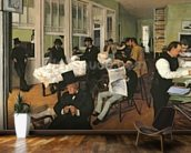 The Cotton Exchange, New Orleans, 1873 (oil on canvas) wallpaper mural kitchen preview