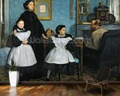 The Bellelli Family, 1858-67 (oil on canvas) mural wallpaper kitchen preview