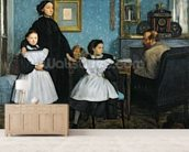 The Bellelli Family, 1858-67 (oil on canvas) mural wallpaper living room preview