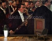 The Opera Orchestra, c.1870 (oil on canvas) wall mural kitchen preview