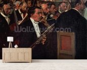 The Opera Orchestra, c.1870 (oil on canvas) wall mural living room preview