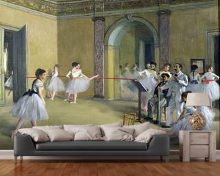 The Dance Foyer at the Opera on the rue Le Peletier Wallpaper Wall Murals