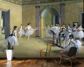 The Dance Foyer at the Opera on the rue Le Peletier, 1872 (oil on canvas) wallpaper mural kitchen preview