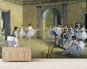 The Dance Foyer at the Opera on the rue Le Peletier, 1872 (oil on canvas) wallpaper mural living room preview