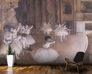 Ballet Rehearsal on the Stage Wallpaper Wall Murals