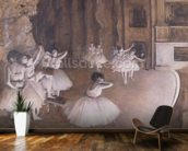 Ballet Rehearsal on the Stage, 1874 (oil on canvas) wall mural kitchen preview
