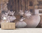 Ballet Rehearsal on the Stage, 1874 (oil on canvas) wall mural living room preview