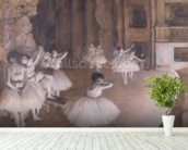 Ballet Rehearsal on the Stage, 1874 (oil on canvas) wall mural in-room view