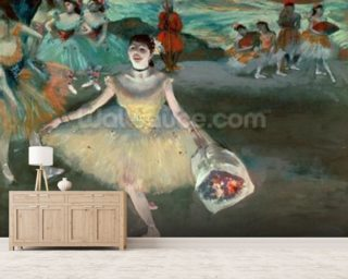Dancer with bouquet Wallpaper Wall Murals