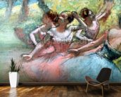 Four ballerinas on the stage (pastel) mural wallpaper kitchen preview