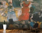 Cafe Concert at Les Ambassadeurs, 1876-77 (pastel on paper) wall mural kitchen preview