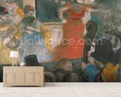 Cafe Concert at Les Ambassadeurs, 1876-77 (pastel on paper) wall mural living room preview