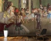 The Dancing Class, c.1873-76 (oil on canvas) wallpaper mural kitchen preview