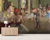 The Dancing Class, c.1873-76 (oil on canvas) wallpaper mural living room preview