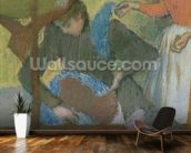 At the Milliners, c.1898 (pastel on paper) mural wallpaper kitchen preview