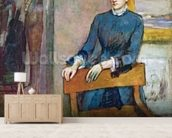 Helene Rouart in her Fathers Study, c.1886 (oil on canvas) wall mural living room preview
