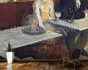 In a Cafe, or The Absinthe, c.1875-76 (oil on canvas) wall mural kitchen preview