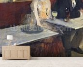 In a Cafe, or The Absinthe, c.1875-76 (oil on canvas) wall mural living room preview