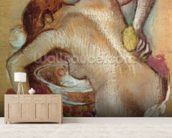 Woman at her toilet, c.1894 (pastel) wallpaper mural living room preview