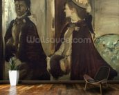 Madame Jeantaud in the mirror, c.1875 (oil on canvas) mural wallpaper kitchen preview
