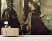 Madame Jeantaud in the mirror, c.1875 (oil on canvas) mural wallpaper living room preview