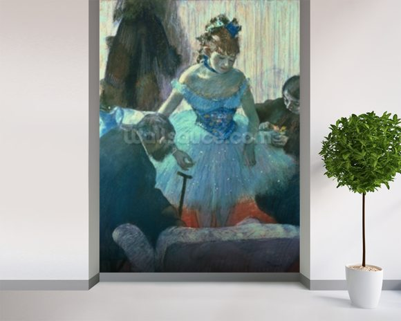 Dancer in her dressing room (pastel) wall mural room setting