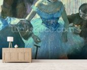 Dancer in her dressing room (pastel) wall mural living room preview