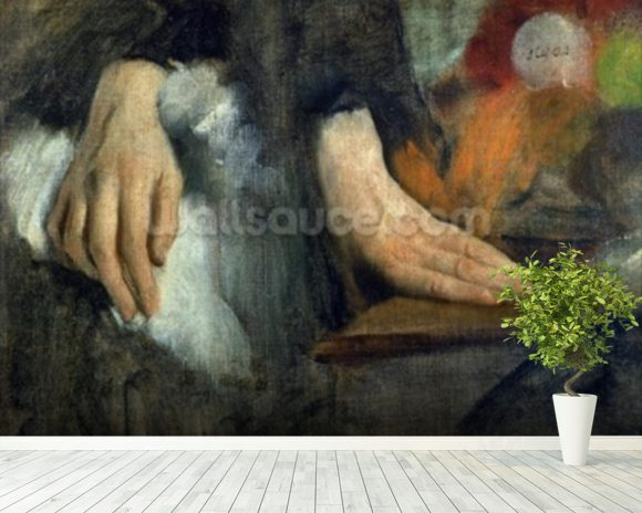 Study of Hands, 1859-60 (oil on canvas) wallpaper mural room setting