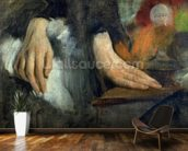 Study of Hands, 1859-60 (oil on canvas) wallpaper mural kitchen preview