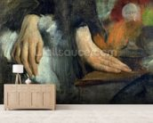 Study of Hands, 1859-60 (oil on canvas) wallpaper mural living room preview