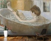 Woman in her Bath, Sponging her Leg, c.1883 (pastel on paper) wall mural kitchen preview