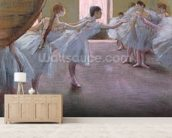 Dancers at Rehearsal, , 1875-1877 (pastel on cardboard) wall mural living room preview