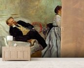 Monsieur and Madame Edouard Manet, 1868-69 (oil on canvas) mural wallpaper living room preview