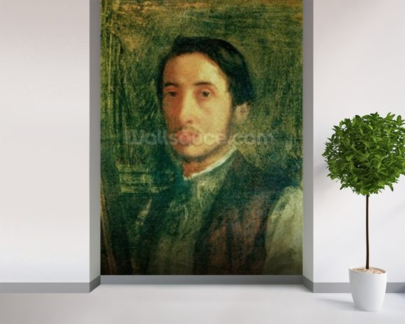 Self Portrait as a Young Man (oil on canvas) wall mural room setting