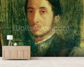 Self Portrait as a Young Man (oil on canvas) wall mural living room preview