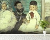 Comte Le Pic and his Sons wallpaper mural in-room view
