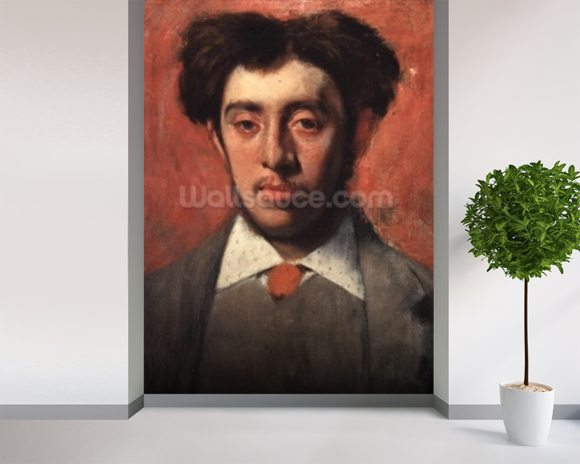 Portrait of Albert Melida (oil on canvas) wall mural room setting