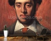 Portrait of Albert Melida (oil on canvas) wall mural kitchen preview