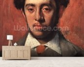 Portrait of Albert Melida (oil on canvas) wall mural living room preview