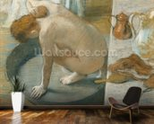 The Tub, 1886 (pastel on card) wallpaper mural kitchen preview