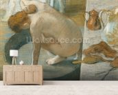 The Tub, 1886 (pastel on card) wallpaper mural living room preview