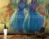 Two Blue Dancers (pastel on paper) mural wallpaper kitchen preview
