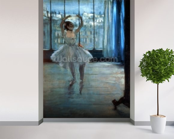 Dancer in Front of a Window (Dancer at the Photographers Studio) c.1874-77 (oil on canvas) wall mural room setting