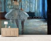 Dancer in Front of a Window (Dancer at the Photographers Studio) c.1874-77 (oil on canvas) wall mural living room preview
