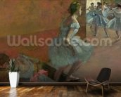 Dancers Ascending a Staircase, c.1886-88 (oil on canvas) wallpaper mural kitchen preview