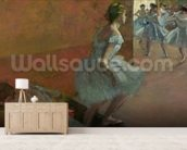 Dancers Ascending a Staircase, c.1886-88 (oil on canvas) wallpaper mural living room preview