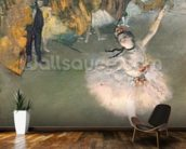 The Star, or Dancer on the stage, c.1876-77 (pastel on paper) mural wallpaper kitchen preview