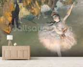 The Star, or Dancer on the stage, c.1876-77 (pastel on paper) mural wallpaper living room preview