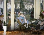 Women on a Cafe Terrace, 1877 (pastel on monotype) wall mural kitchen preview