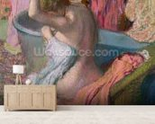 Seated Bather, 1899 (pastel on paper) wall mural living room preview
